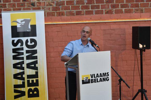 Jurgen Van Duyse was in oktober lijsttrekker voor Vlaams Belang in Vilvoorde.