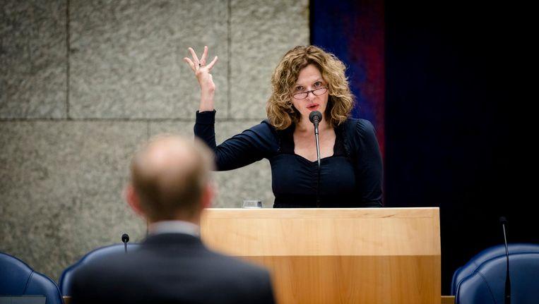 Minister Edith Schippers geeft de Tweede Kamer uitleg over de kabinetsbrief. Beeld ANP