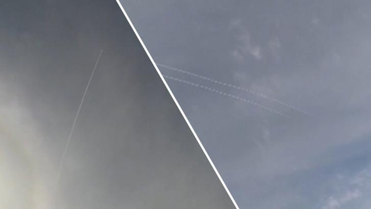 Skiërs zijn getuigen van onderschepping Iraanse raket