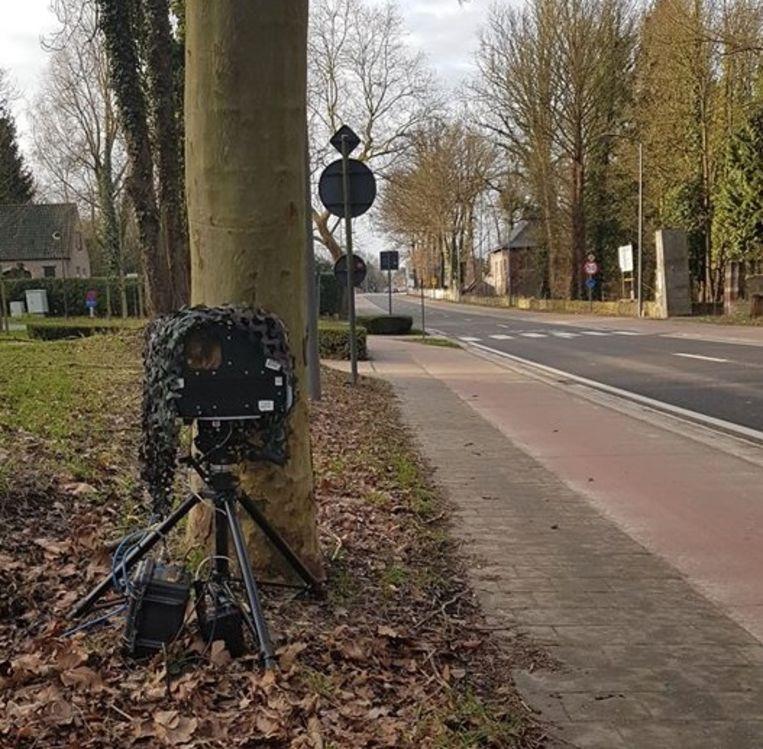 De politie flitste zaterdagochtend op de Mechelsesteenweg in Sterrebeek.