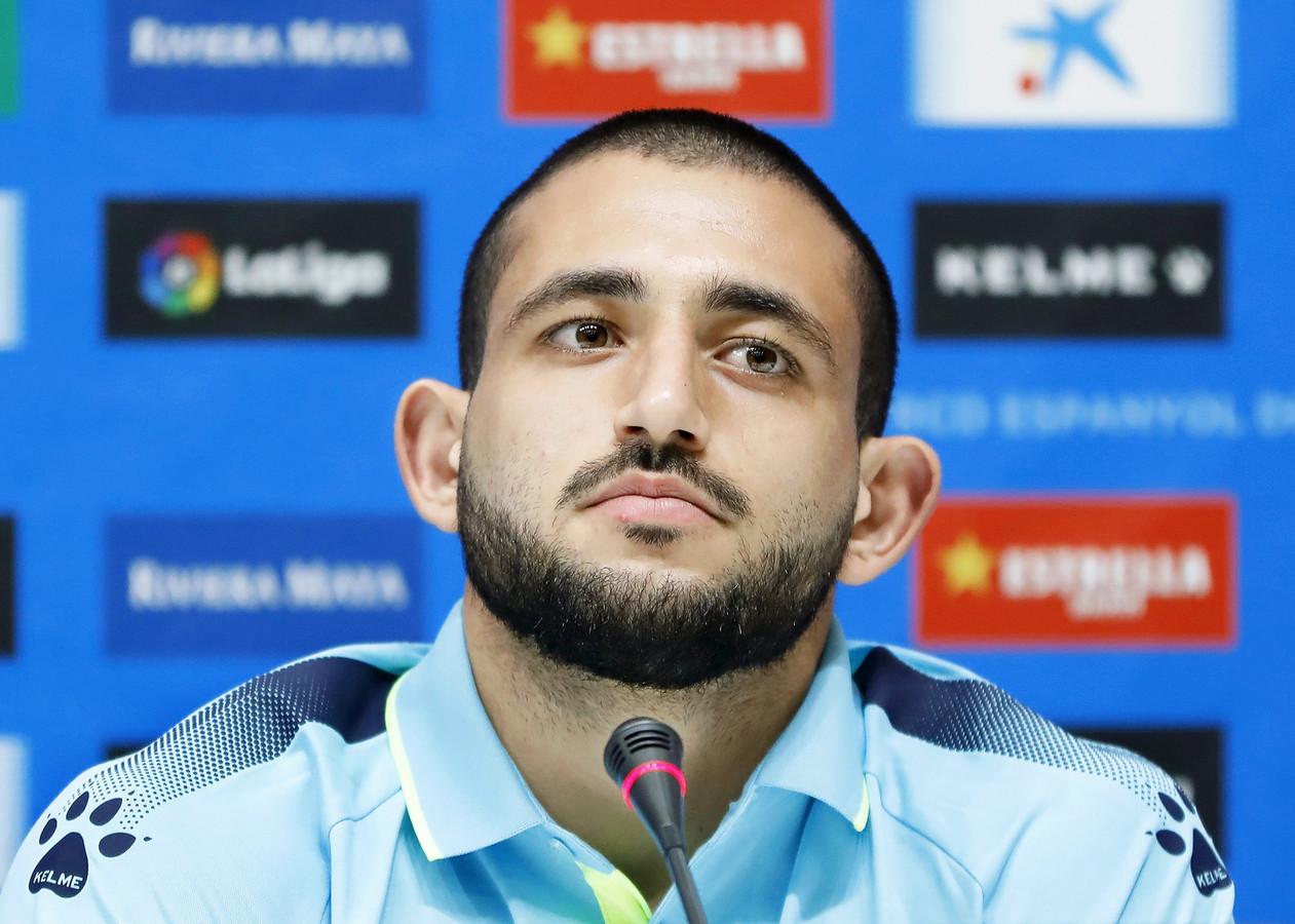 Matías 'Monito' Vargas bij zijn presentatie bij RCD Espanyol.
