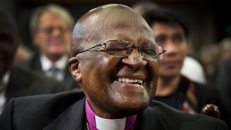 Desmond Tutu in Den Haag. Beeld anp
