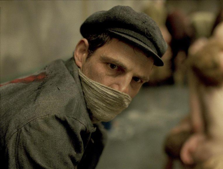 Acteur Géza Röhrig in de film Son of Saul Beeld .