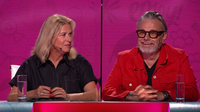 Marcel Vanthilt en Barbara Sarafian in 'Veel Tamtam'.