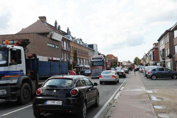 Volgende week kan het verkeer op de Wolvertemsesteenweg tijdelijk opnieuw volledig hernemen.