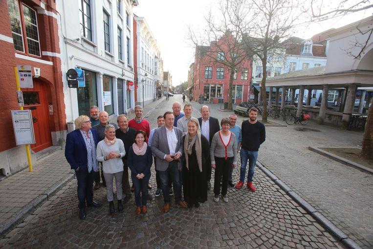 De misnoegde handelaars in de Predikherenstraat.