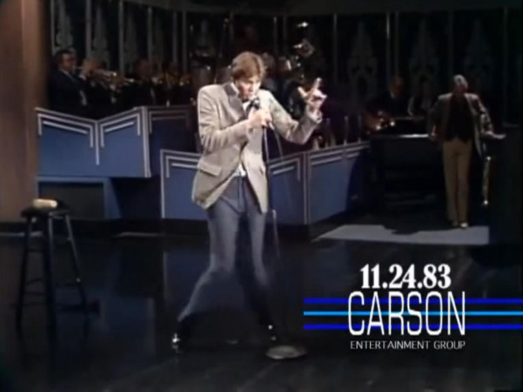 Bij zijn debuut had Jim Carrey geen Elvis pak nodig. Beeld