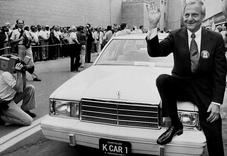 Lee Iacocca begin jaren tachtig bij Chrysler. Beeld AP