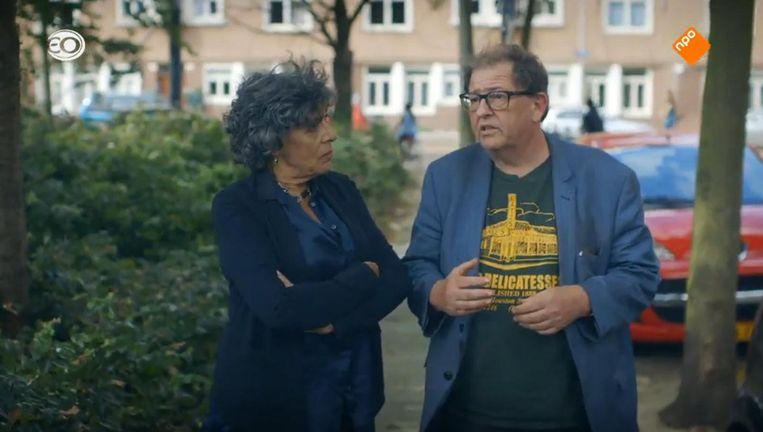 Hanneke Groenteman in gesprek in het EO-programma De kanarie in de kolenmijn. Beeld