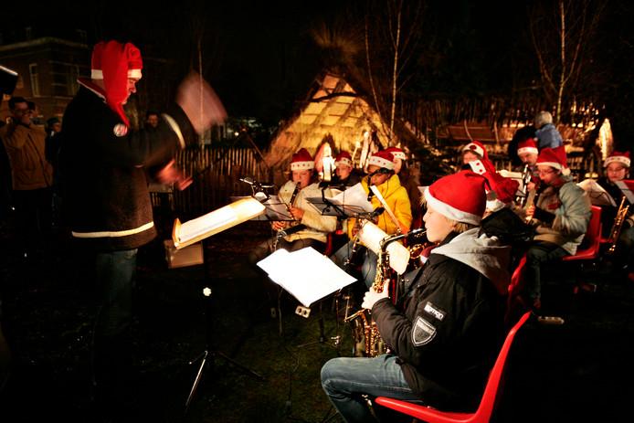 De opening van de kerststal in Waalre in 2008.