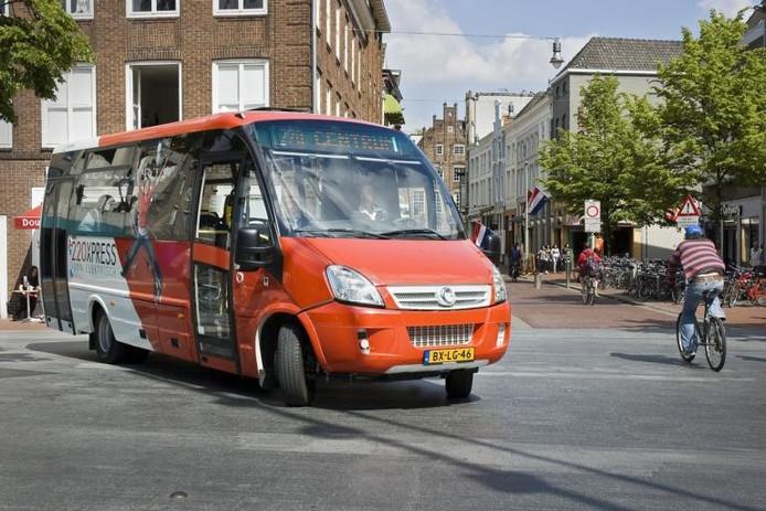 Het elektrische busje 220Xpress keert waarschijnlijk terug in het centrum van Den Bosch.
