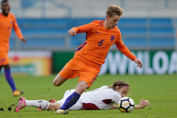 Frenkie de Jong in Jong Oranje in 2017.