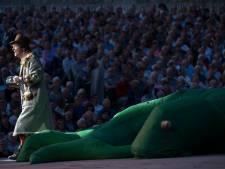 Dit spektakel kregen drieduizend bezoekers dinsdag voorgeschoteld in het Steengroevetheater