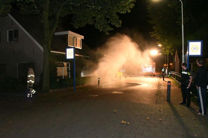 Veel rookontwikkeling bij de brand in Westervoort