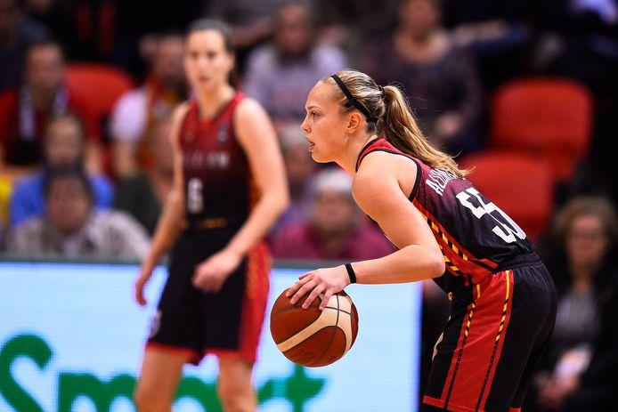 Julie Allemand, meilleure scoreuse belge du match avec 18 points