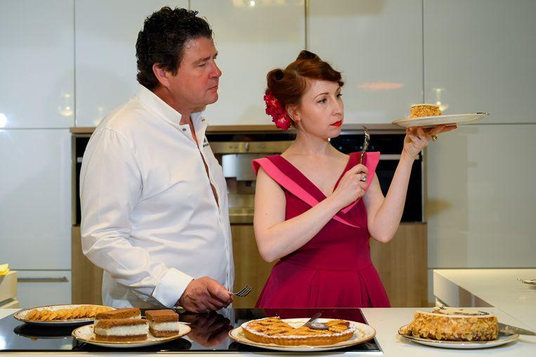Regula Ysewijn en Herman Van Dender, de jury van Bake Off Vlaanderen 2019