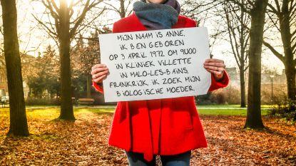 """Anne (47) zoekt biologische moeder: """"Ik wil haar zo graag vertellen dat ik het goed stel"""""""