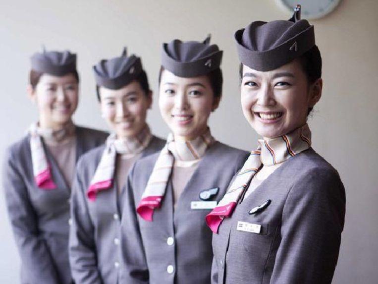 Enkele stewardessen van Asiana Airlines .