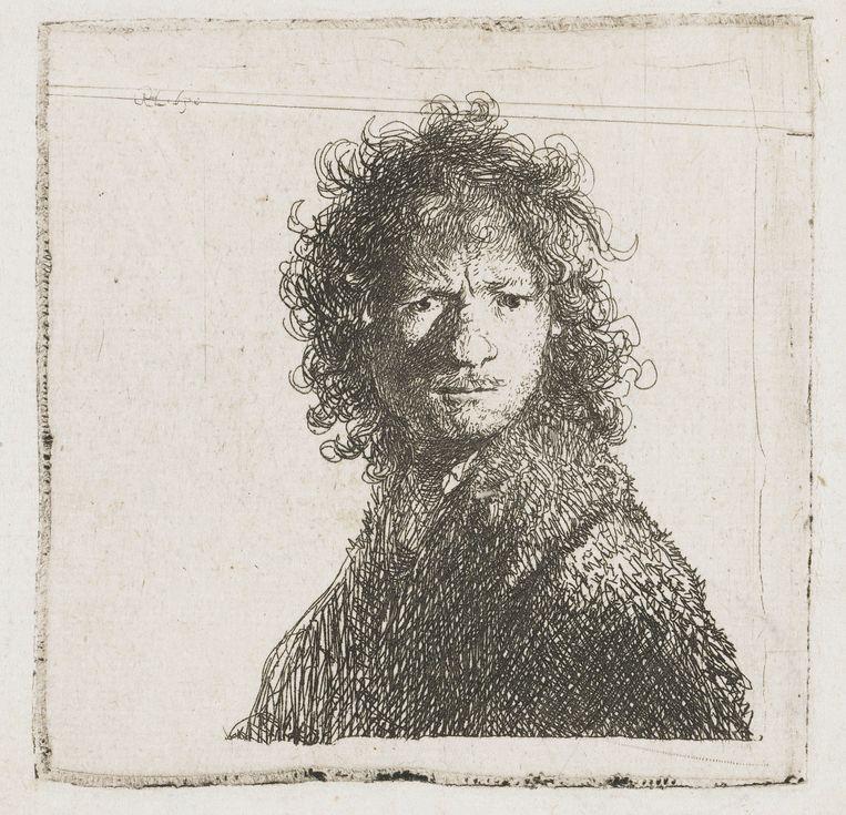 Zelfportret, Rembrandt van Rijn, 1630. Beeld null