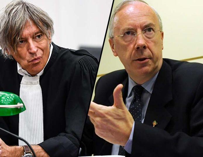 Advocaat Walter Van Steenbrugge (links) en overste van de Broeders van Liefde René Stockman.