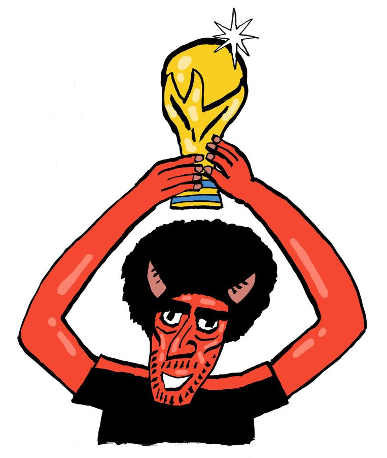 België is een onvoorspelbaar ensemble dat traditionele voetbalgrootmachten schrik aanjaagt. Beeld Bas van der Schot