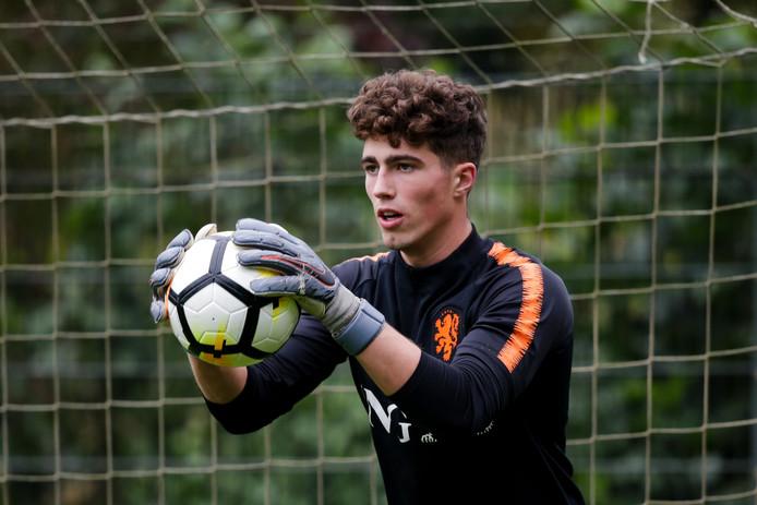 Aron van Lare vorige maand tijdens een training met Oranje onder 17.