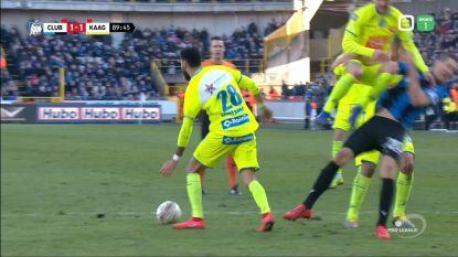 """Club Brugge een penalty ontzegd op winner in slotfase: """"Als dit geen clear error van de ref was, wat dan wel?"""""""