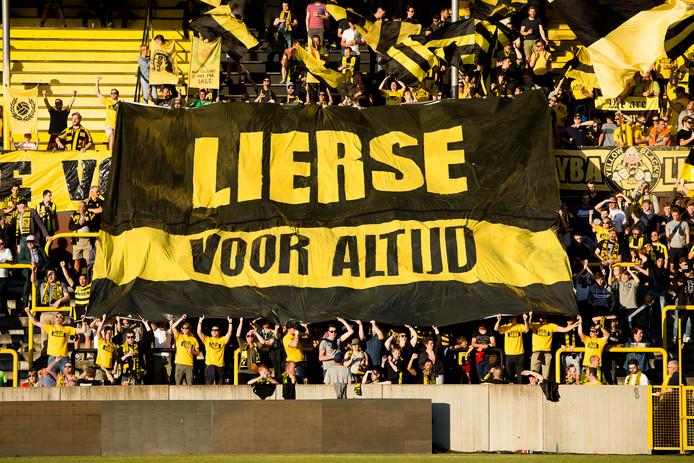 Lierse-fans waren nog positief gestemd over de toekomst van hun favoriete club.