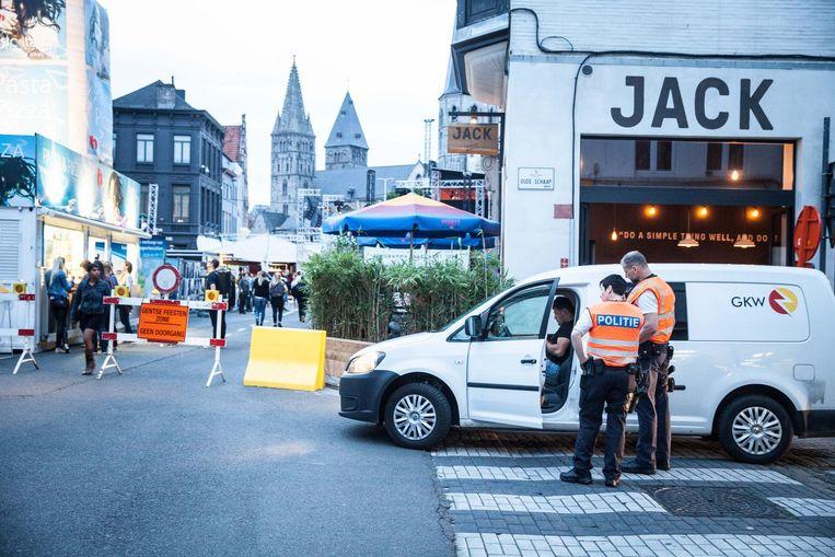 Tijdens de Gentse Feesten is in de stad zelf al meer politie op de been.