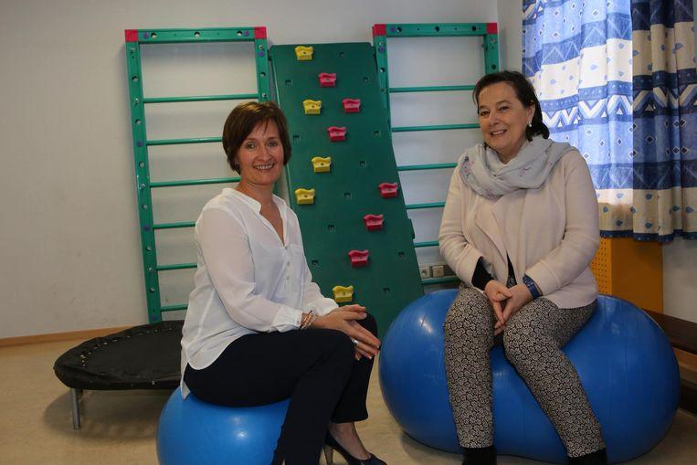Coördinator Nadia Dewit en directrice Chantal Betrains in het D.A.T.