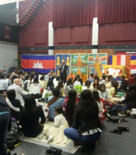 Cambodjanen vieren Nieuwjaar in Heesch