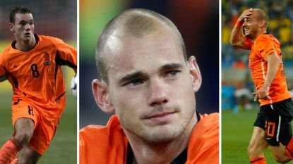 Oranje zwaait Sneijder uit: de meest memorabele momenten van 'de kleine grote'