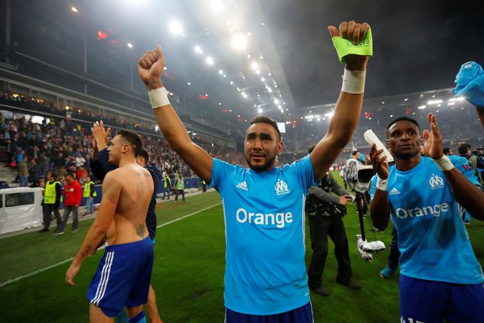 Tranen van geluk bij Dimitri Payet, de spelmaker en aanvoerder van Olympique Marseille.