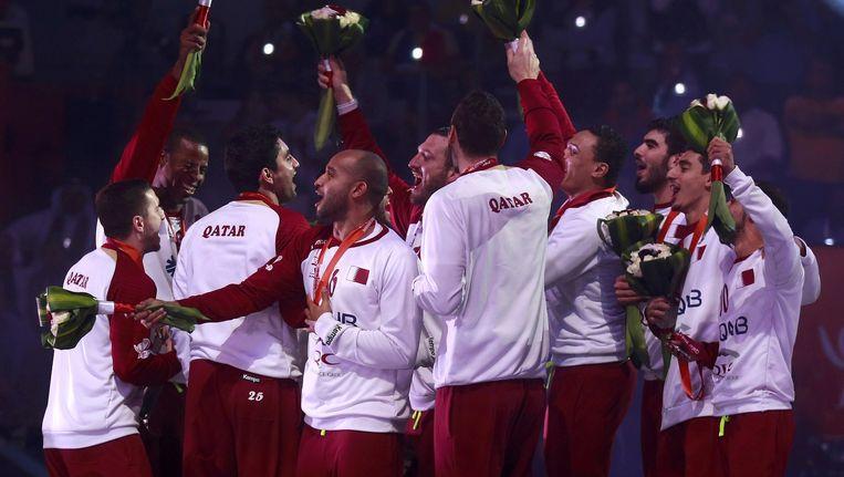 op het WK handbal pakten de Qatarezen de tweede stek en daar waren ze uiteraard best tevreden mee.