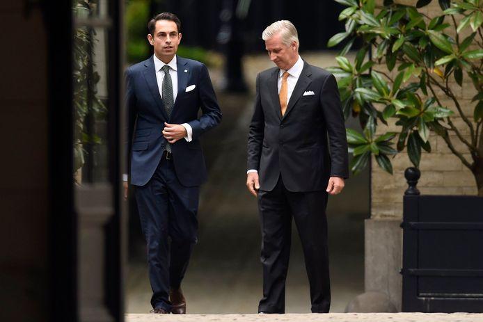 Tom Van Grieken kwam woensdag op koninklijke audiëntie, een primeur voor het Vlaams Belang.