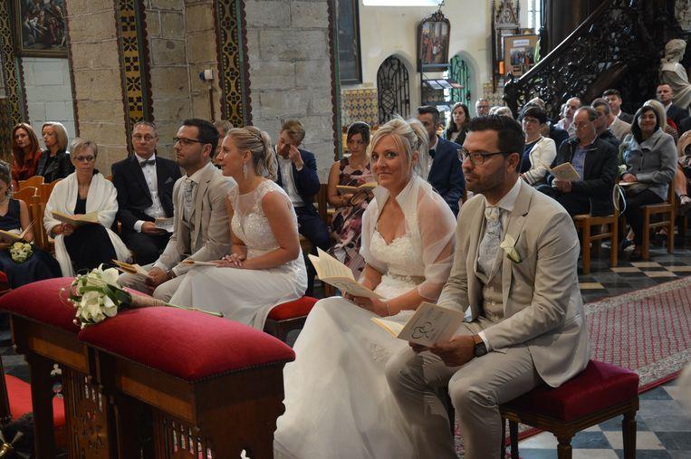 Dubbel huwelijk tweeling Sébastien en Laurent Neufkens.