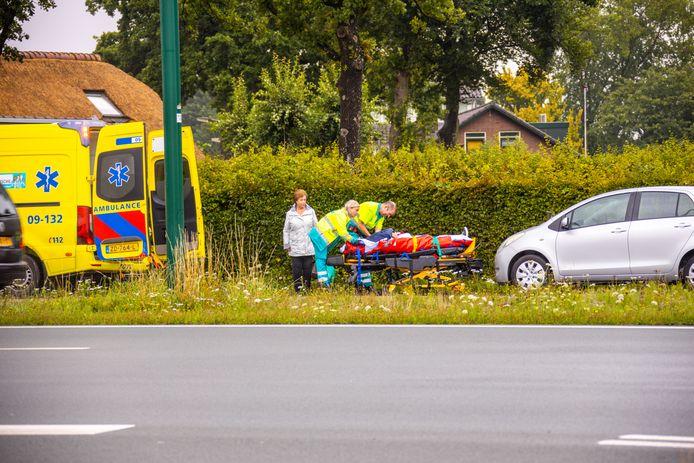Kop-staart botsing in Hoogland.