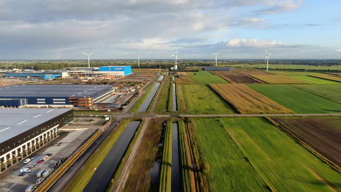 Een overzicht van Haven Acht in Waalwijk.