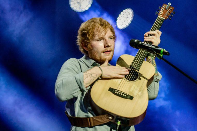 De Britse singer-songwriter Ed Sheeran tijdens een optreden in de Amsterdamse Ziggo Dome.