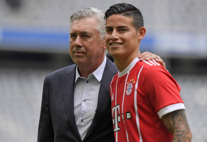 Ancelotti en James bij Bayern.