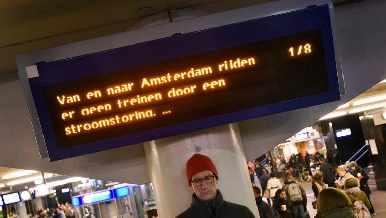 Station Amsterdam Centraal, vanmorgen. Beeld anp