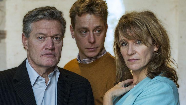 Porgy Franssen en Renée Fokker met hun theaterzoon Mark van Eeuwen (midden) Beeld Hummelinck Stuurman