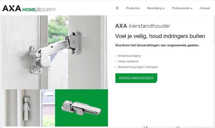 Met de kierstandhouder van AXA kun je het raam openzetten zonder dat deze van buiten verder te openen is.