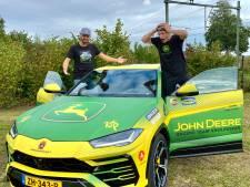 Enzo Knol bouwt 'dikke John Deere' van zijn Lamborghini in Etten-Leur
