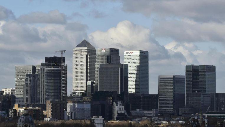 Canary Wharf, onderdeel van het financiële hart van Londen. Beeld reuters