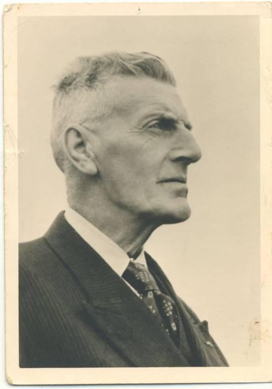 Portret van dijkgraaf De Leeuw, een van de belangrijke historische personen uit de geschiedenis van Maas en Waal.