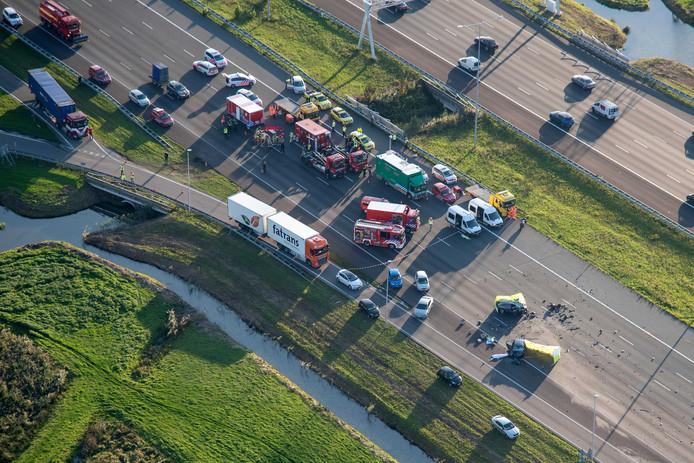 Op de A2 bij Breukelen vielen een week geleden drie doden bij een aanrijding. Ook raakte een persoon gewond.