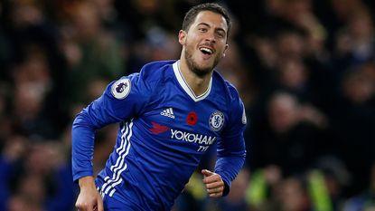 """'Speler van de Maand' Eden Hazard: """"Conte zag in mij een doelpuntenmaker"""""""