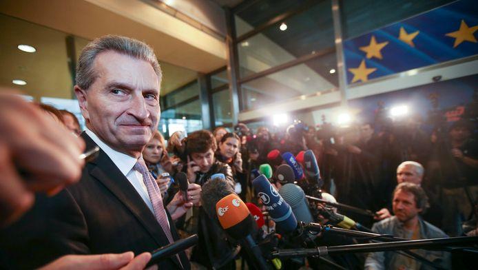 Gunther Oettinger, commissaire européen.