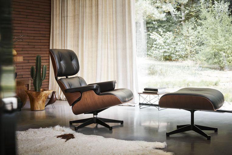 Lounge Chair Ottoman Mahogany van Eames.